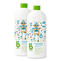 BabyGanics 泡沫香皂 無香型 32液體盎司(946ml)2個裝 包裝或有不同