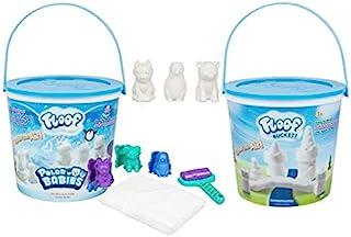 Play Visions Floof 模型粘土 - 可重复使用的室内雪 - 极地婴儿套装 - 3 个极地婴儿模具 & 1 个爪印滚筒 - 360 克地板 - 创意无限,可模具任何形状或设计