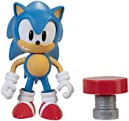 Sonic The Hedgehog 4 英寸动作人偶 Classic Sonic 带春季收藏玩具