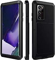 AICase 重型手机壳适用于 Galaxy Note 20 超内置屏幕保护膜,铝制 TPU 坚固*级手机壳,防震坚固耐用防摔保护套,适用于三星 Galaxy Note20 Ultra