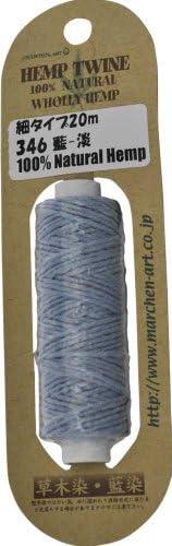 童话艺术 大头红头细款/粗细:约1.2mm(*外纤维Hemp*)蓝染 20m卷 346.蓝淡