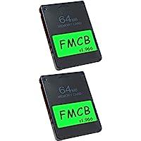Skywin FMCB 免费 McBoot 卡 v1.966 适用于 PS2-2 件装即插即用PS2存储卡 - 64 GB 存储卡 PS2 在 USB 磁盘或硬盘上运行游戏