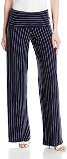 AÓX Armani Exchange 女式大腰带细条纹喇叭裤