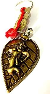 DevDeep Chrismas 特殊风水红中国结 3 枚硬币 Ganesha FACE (加纳帕蒂)钥匙圈/钥匙链/流苏将 3 个天堂祝福带到您的家中。