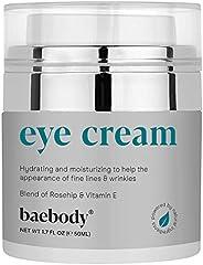 Baebody 眼霜玫瑰色芙蓉用于外观细纹、皱纹、黑眼圈和包 - 适用于下部和周围* - 1.7 液体盎司