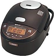 ZOJIRUSHI 象印 电饭煲 5.5合(约1升) 压力IH式 极限烹煮 黑厚锅 保温 快煮 28 分钟 保温30小时 深棕色 NP-ZD10-TD 需配变压器