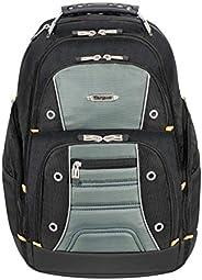 Targus 泰格斯 Drinder II背包 适合商务通勤者,大隔舱,耐用防水,隐藏式拉链口袋,保护套适合16英寸笔记本电脑,黑色/灰色(TSB238US)