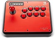 PowerA Fusion 无线街机棒,适用于 Nintendo Switch、Lite、Fight Stick、Gamepad、游戏控制器、蓝牙控制器、AA - Nintendo Switch
