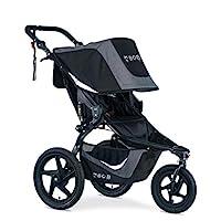BOB Gear Revolution Flex 3.0 慢跑嬰兒車 | 平滑騎行懸架 + 輕松折疊 + 可調節車把,石墨黑 [ 新標志 ]