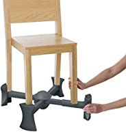 KABOOST 餐桌增高餐椅,木炭色 - 坐在椅子下 - 幼儿便携式增高椅