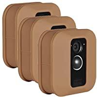 Wasserstein 彩色保护硅胶皮肤兼容 Blink XT 和 XT2 户外相机 - 帮助迷彩和装饰您的家庭*摄像头(3 件装,棕色)