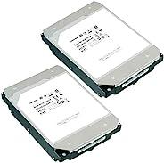 TOSHIBA 东芝 3.5英寸 内置HDD 12TBx2台(CMR) 7,200rpm SATA 24x7 RV传感器 氦填充HDD 适合NAS 硬盘 HDD2台包装支持故障时同时更换 MN07ACA12T/JP2