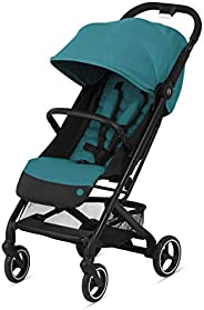 CYBEX Beezy 婴儿车,轻质婴儿推车,紧凑折叠,与所有 CYBEX 婴儿座椅兼容,支架,便于携带,多倾斜位置,旅行推车,河蓝色