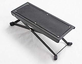 NUZAMAS 可调节吉他脚凳,可折叠,高度和角度可调,重型金属制造,音乐脚凳,带防滑橡胶脚