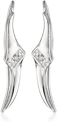 耳釘鉆石點綴*錐形尖頭純銀耳環