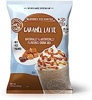 Big Train 混合冰咖啡 焦糖拿铁 3 磅 8 盎司(约 1.4 千克) 8 盎司(约 226.8 克)(1 包),粉状速溶咖啡混合,可盛装热饮或冷饮,可制作混合包装饮料