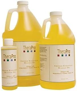 TheraPro 瑞典Effleurage 按摩油 - 天然葡萄籽和杏仁油,含维生素 E - 无香味水溶性- 丝滑顺滑,吸收* - 1/2 加仑(约 1.3 升)