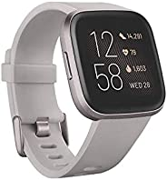 Fitbit Versa 2 Health & Fitness Smartwatch with Voice Control, Sleep Score & Music, Stone/M