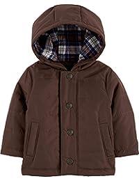 Carter's 卡特男婴羽绒连帽涤纶衬里冬季夹克,棕色,9 个月