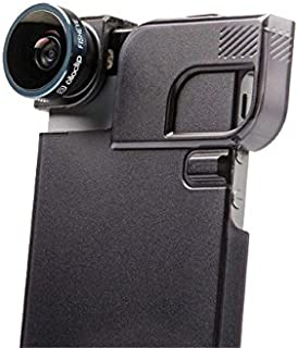 olloclip 相机镜头 + 快速翻转外壳(黑色) - 4 合 1 组合:Lens+Case - Apple iPhone 5/5S - 黑色镜头/黑色夹