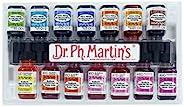 Dr. Ph. Martin's Radiant 浓缩水彩,0.5 盎司,一套 14