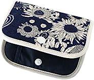 FLORET LONDON 口罩收纳袋 小挎包 藏青色 11×14×3厘米 [使用自由印花]