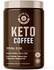Rapid Fire Ketogenic Fair Trade Coffee Mix, 15 Servings, 7.93 oz. (0.5 lb.) Canister,Packaging May Vary