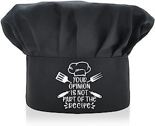 AGMdesign 趣味厨师帽, Your Opinion is Not Part of The Recipe, Adjustable Kitchen Cooking Hat 男女适用,母亲节/父亲节/送给他、她、妈妈、爸爸、朋友的生日礼物