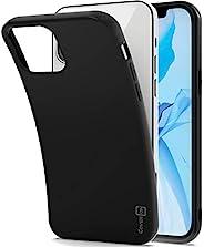 CoverON 超薄 TPU 适用于 Apple iPhone 12 Pro Max 手机壳(6.7 英寸),弹性软手机壳 - 黑色