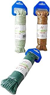 3件套 32.8 英尺每条菱形编织聚丙烯通用旗线绳,高强度绳索服装系绳野营螃蟹锅绳