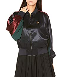 FRED PERRY 拉链夹克 CONTRAST PANEL BOMBER JACKET J9106 女士 NAVY UK 10(相当于日本M码)