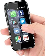 超小型迷你智能手機 3G 雙 SIM 手機 1GB RAM 8GB ROM 雙 SIM Android 6.0 解鎖兒童手機口袋手機(黑色)