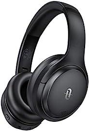 TaoTronics 無線耳機耳塞帶輕量*泡沫耳塞和雙 40mm 驅動(3.5 mm AUX、On Ear Controls、EQ Bass、15 小時音頻播放) 深黑色