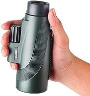 Landove 12x50 大功率單筒和快速手機支架,戶外狩獵旅游高清單筒望遠鏡專業 1250 伸縮器,防水,超清晰,BAK4 FMC 棱鏡,適用于觀鳥戶外音樂會