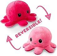 双面章鱼迷你毛绒玩具 Light Pink/Dark Pink