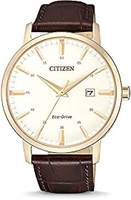 Citizen 西铁城 男士 指针 光动能手表 皮革表带 BM7463-12A