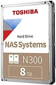 Toshiba 东芝 N300 8TB NAS 3.5英寸内置硬盘 - CMR SATA 6 GB/s 7200 RPM 256 MB 缓存 - HDWG180XZSTA