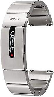 Sony 索尼 wena 智能手表 电子支付 乐天Edy 活动监测 支持iOS/Android wena wrist pro Silver : 不锈钢/EL显示屏/蓝牙/约1周连续工作 WB-11A/S