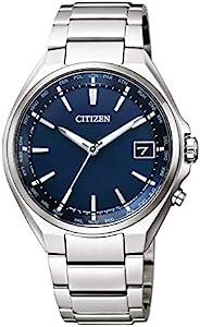 CITIZEN 西铁城 男士 ATTESA 手表 Eco Drive光动能 电波手表 双向直线型指针显示式 CB1120-50L 银,表盘颜色-蓝色