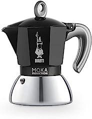 Bialetti New Moka 电磁炉咖啡壶 2 杯 90 毫升 铝黑色