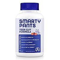 Smartypant 青少年男孩每日复合维生素软糖:Smartypant提供生物素,维生素C,D3,E,B12,A,Omega 3鱼油DHA / EPA,锌,碘,胆碱,叶酸(甲基叶酸)(120粒,30天用量)