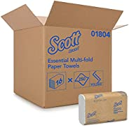 Scott Multifold Paper Towels (01804) with Fast-Drying Absorbency Pockets, White, 16 Packs / Case, 250 Multifol
