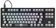 Drop CTRL 高调机械键盘 — 无键式 TKL (87 键) 游戏键盘,热插拔开关,可编程,背光 RGB LED,USB-C,Double shot PBT,铝(黑色,Barebones)