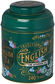 New English Teas Vintage Victorian Tea Tin with 240 English Afternoon teabags