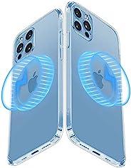 Mgnaooi 磁性透明适用于 iPhone 13 Pro Max 手机壳 [抗黄色和*级跌落测试] 兼容 MagSafe 超薄保护套 6.7 英寸