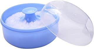 EXCEART 空体粉末容器粉扑盒泡泡盒海绵盒 适用于婴儿新生儿家庭和旅行(蓝色)