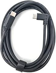 TNE USB C 至 USB C 电缆 10 英尺,Oculus Quest Link 电缆和替换充电器电缆 | 高速数据传输和快速充电电源线 兼容 Quest 和游戏电脑 10ft/3m 黑色