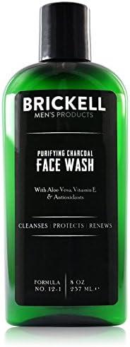 Brickell 男士净化木炭洁面乳,天然*日常洁面乳,8 盎司(约 226.8 克),香味