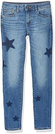 DL1961 女童 Big Chloe 紧身牛仔裤 Bluecrush