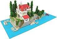 SANKEI 迷你纸模型 吉卜力工作室系列 红猪 *店Adriano 1/300比例 纸模型 MK07-15